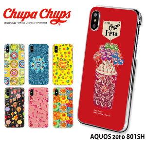 AQUOS zero 801SH ケース ハード カバー 801sh アクオスゼロ ソフトバンク ハードケース デザイン チュッパチャプス Chupa Chups