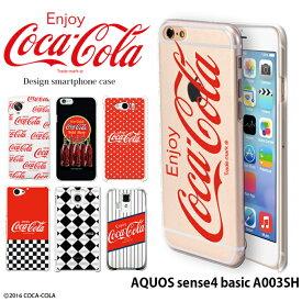 AQUOS sense4 basic A003SH ケース ハード カバー a003sh アクオスセンス4 ベーシック ハードケース デザイン 「コカ・コーラ」 Coca-Cola コカコーラ