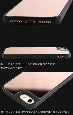 ゆるキャングッズiPhoneケースミラー鏡iPhoneSEiPhone12ProMax12mini12proiPhone11iPhone8iPhone7アイフォン12アイフォン11アイフォンSE第2世代12プロマックスミラーケースアイフォンカバーデザインりんなでしこ