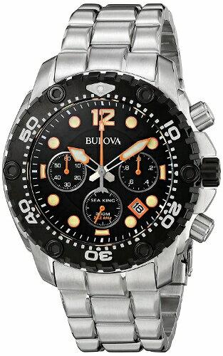 2年保証!新品 腕時計 ブローバ BULOVA Sea King シーキング UHF 98B244 メンズ 300m防水 262khz ダイバー ダイビング スキューバ ステンレス 【smtb-m】