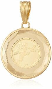 K24 K18 YG ツバル エンジェル ペンダント トップ 1/25 oz オンス コイン ガラス付 ゴールド 金 金貨 純金 メンズ レディース ユニセックス