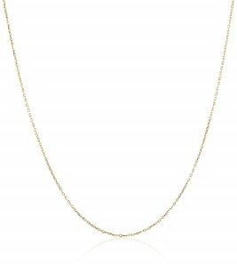 K18 YG 18金 小豆 アズキ あずき チェーン ネックレス 0.23φ 1.0g 45cm 日本製 ゴールド 金 メンズ レディース ユニセックス