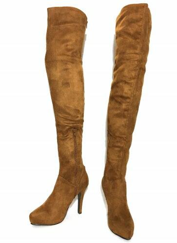 LIP SERVICE リップサービス ニーハイブーツ ロングブーツ ブーツ 靴 0436530120 ベージュ(ブラウン) 22cm 22.5cm 23cm 23.5cm 24cm 24.5cm Sサイズ Mサイズ Lサイズ スエード(スウェード)