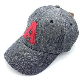 新品 GRIMM グリム ベースボールキャップ キャップ 帽子 文字 ワッペン 刺繍 メンズ デニム グレー レッド A