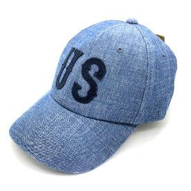 新品 GRIMM グリム ベースボールキャップ キャップ 帽子 文字 ワッペン 刺繍 メンズ デニム ブルー ネイビー US