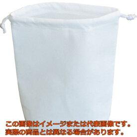 TRUSCO 不織布巾着袋 B5サイズ マチあり ホワイト 10枚入 HSB510W