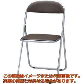 【配送日時指定不可】TRUSCO 折りたたみパイプ椅子 ウレタンレザーシート貼り ブラウン FC1000TS BR