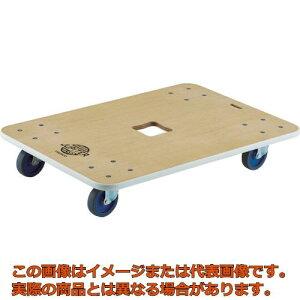 【代引き不可・配送時間指定不可】 TRUSCO 木製平台車 ジュピター 900X600 φ75 200kg JUP-900-200