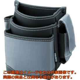 TRUSCO 腰袋 3段 携帯電話ホルダー付き グレー TWP3GY