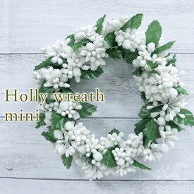 かわいいミニリース直径 16cmインテリア オブジェお洒落で可愛いガーデン雑貨クリスマスツリー オーナメント/