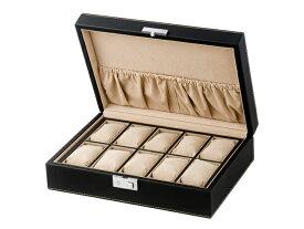エスプリマ LUHW 合皮時計10本ケース SP80049LBK ブラック