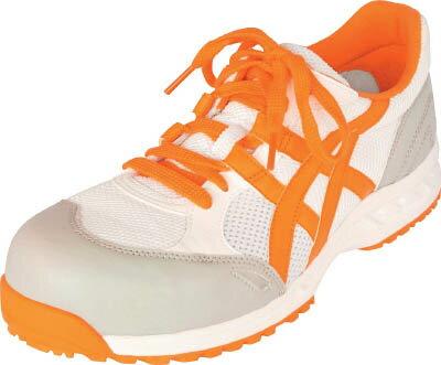 アシックス(ASICS)  安全靴(作業用靴)  ウインジョブ33L FIS33L 0109 ホワイト/オレンジ