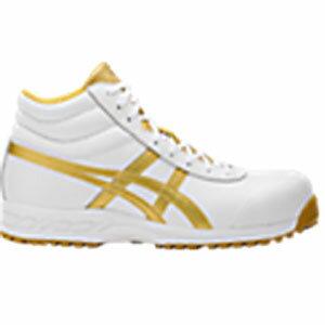 アシックス(ASICS)  安全靴(作業用靴)ウインジョブ FFR71S.0194 ホワイト×ゴールド FFR71S