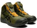 在庫あり 限定カラー アシックス(ASICS)  安全靴 ウインジョブ CP304 BOA 1271A030.302 スモッググリーン/グラフ…