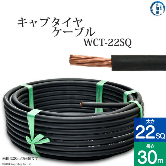 溶接用キャプタイヤ(キャブタイヤケーブル) WCT 22SQ 30m 【あす楽】