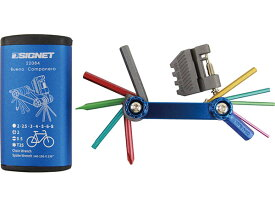 ☆ SIGNET(シグネット) 22084 フォールディングツールセット ブルー 14pcs 自転車用車載工具