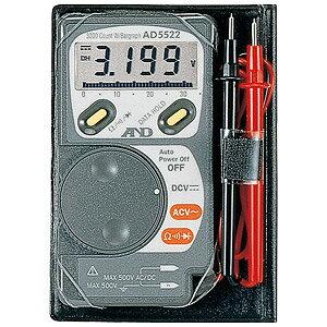 ☆エー・アンド・デイ(A&D) AD-5522 デジタルマルチメーター カードタイプ 最大3200カウント 電子計測機器