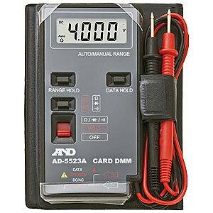 ☆エー・アンド・デイ(A&D) AD-5523A デジタルマルチメーター カードタイプ 電子計測機器