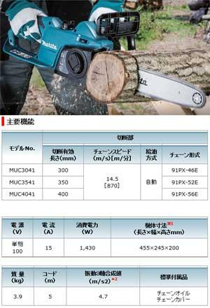 ☆【送料無料】マキタ電動式チェーンソー300mmAC100VMUC3041【RCP】