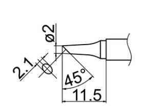 ☆白光/ハッコー T12-BC2 こて先 2BC型   コード(2945771)