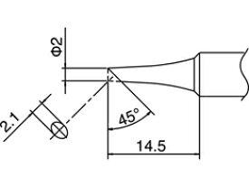 ☆白光/ハッコー T18-C2 こて先 2C型   コード(3559289)