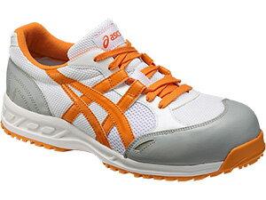 【送料無料】☆アシックス/ASICS 作業靴 新色 ホワイト×オレンジ 0109 安全靴 スニーカー・ローカットヒモタイプ (22.5cm〜30.0cm)FIS33L-0109 【RCP】