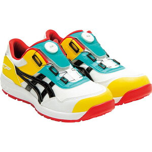 【数量限定】☆アシックス/ASICS 1271A029.104 ウィンジョブ CP209 BOA ホワイト×ブラック ローカット (25.0cm〜28.0cm) 安全靴 作業靴 セーフティシューズ ワーキングシューズ