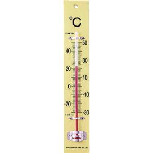 ☆佐藤計量器/SATO 1510-00 板付温度計(フック箱)-30〜50℃ 壁掛け型 寒暖計