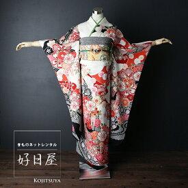 振袖 レンタル フルセット 正絹 着物 【レンタル】 結婚式 成人式 身長147-162cm 白 wh-020