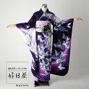 振袖 レンタル フルセット 正絹 着物 【レンタル】 結婚式 成人式 身長162-177cm 紫 pu-003-s