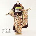 振袖 レンタル フルセット 正絹 着物 【レンタル】 結婚式 成人式 身長153-168cm 紫 pu-026-s