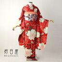 【レンタル】【成人式用】 振袖 フルセット 正絹 適応身長153-168cm 赤 re-055-s
