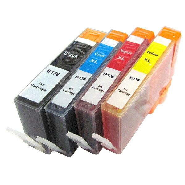 互換インク hp インクカートリッジ HP178 4色セット HP178xl icチップ付 CR281AA プリンターインク 【メール便送料無料】