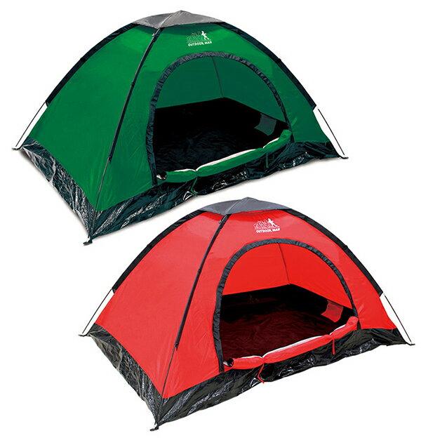 テント 組立式 1〜2人用 ドームテント OUTDOOR MAN ドームテント 【送料無料】