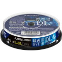 [楽天スーパーSALE全品2倍]DVD-R DL 片面2層 CPRM 録画用 10枚 三菱ケミカルメディア VHR21HDP10SD1 ワイドプリンタブ…