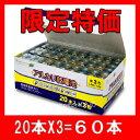 単3 アルカリ乾電池 60本 単三 【宅配便発送専門】