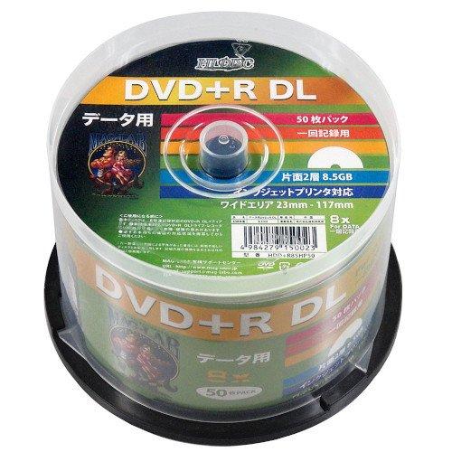 50枚●HI DISC 片面2層 DVD+R DL 8.5GB●8倍 WIDEプリンタブル●HDD+R85HP50【DVD+R DL 50枚】
