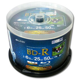 BD-R ブルーレイディスク CPRM 録画用 50枚 lazos LR-50P 書き込み 6倍速対応【在庫限り】