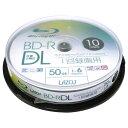 [楽天スーパーSALE全品2倍]BD-R DL 50GB(片面2層) ブルーレイディスク CPRM 1回録画用 10枚 lazos L-BDL10P 高速6倍 …