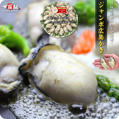 送料無料お試し!ジャンボ広島かき1kg(解凍後850g/30-40粒前後)【カキ】【牡蠣】【かき】