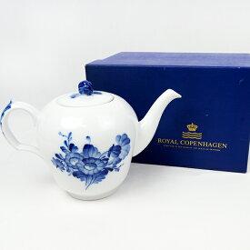 美品 Royal Copenhagen ロイヤルコペンハーゲン ブルーフラワー プレイン ティーポット テーブルウェア【中古】a-2004