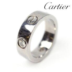 Cartier カルティエ ラブリング 指輪 3Pダイヤモンド サイズ約8号 750WG ホワイトゴールド【中古】c-2005