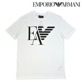 EMPORIO ARMANI エンポリオアルマーニ 3g1TA9 1J00Z 0100 ホワイト 白 ロゴTシャツ 半袖 クルーネック S M L XL XXL サイズ トップス インナー メンズ 男性 カジュアル ファッション c-1906-