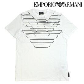 EMPORIO ARMANI エンポリオアルマーニ 3G1T69 1J19Z 0100 ホワイト 白 Tシャツ メンズ 男性用 クルーネック 半袖シャツ イーグル柄シャツ ロゴプリント S M L XL XXL サイズ 2019SS c-1906-