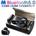 【改良版】Bluetooth イヤホン ワイヤレスイヤホン Bluetooth5.0 自動ペアリング カナル イヤホン マイク内蔵 両耳通…