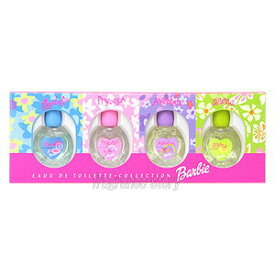 バービー Barbie オードトワレ コレクション 6ml×4 ミニ香水 ミニチュア fs 【あす楽】