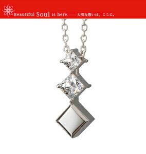 遺骨ペンダント Soul Jewelry ソウルジュエリー プルトワスクエアクロス シルバー925 スワロフスキー ジルコニア 手元供養 送料無料