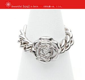 ソウルジュエリー 遺骨リング チェーンリング ローズ Soul Jewelry  手元供養 送料無料