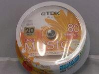 TDK音楽用CDR80分20枚スピンドル