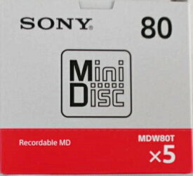 新製品 ソニー ミニディスク 80分 5P 5MDW80T